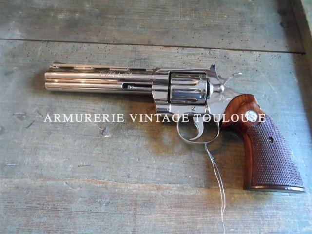 Colt python calibre 357 MAgnum canon de 6 pouces nickelé