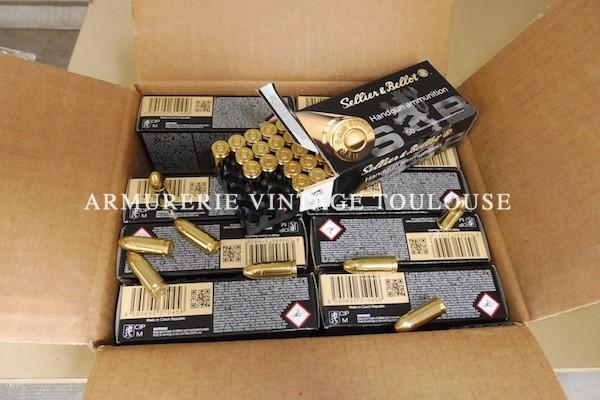 Cartouches 9×19 Sellier et Bellot 115 grains FMJ