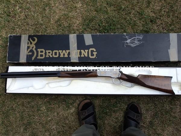 Beau Rifle à levier de sous garde Browning 1885 calibre 45/70