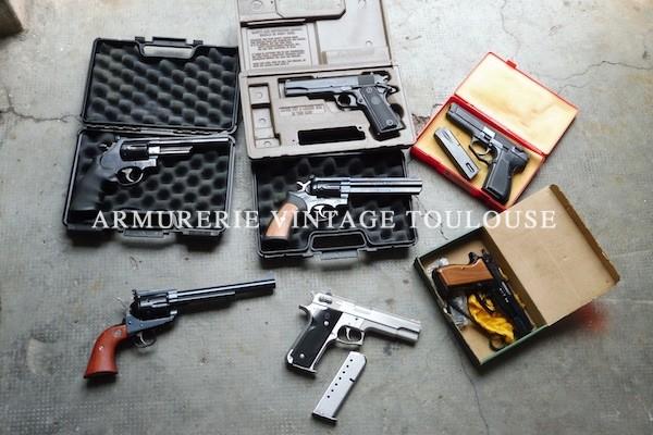 Armes parfaitement entretenues