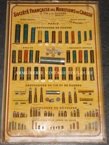Recherche tableaux de munitions anciens de divers fabricants.