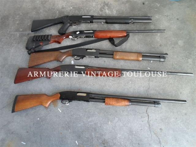 """Lot de fusils à pompe canons rayés catégorie""""C"""" calibre 12 ou 16"""