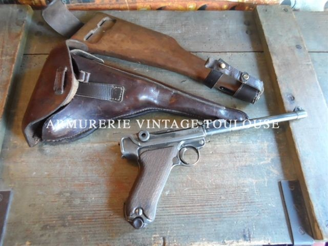 "Lot de deux P08 arti calibre 9X19 fabrication ""DWM"" en 1917 complets"