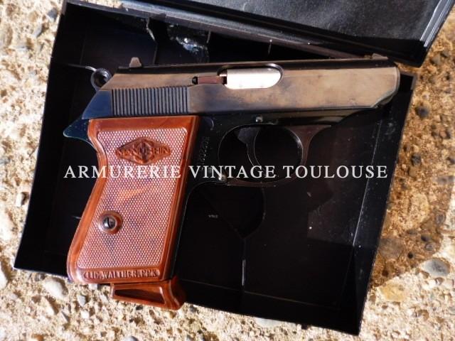 Pistolet Walther PPK fabrication Manurhin en calibre 22 LR dans sa boite!