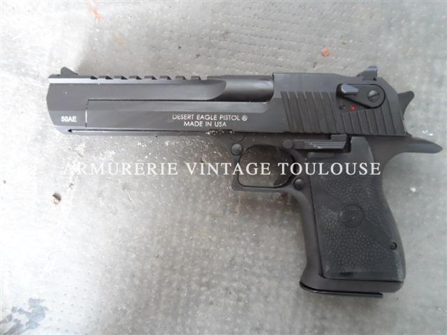 Pistolet Desert Eagle en calibre 50 AE