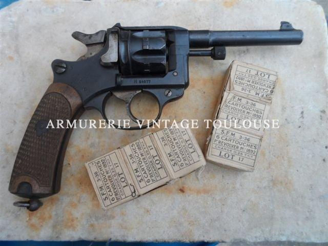 joli révolver Français modéle 1892 calibre 8mm fabrication 1914