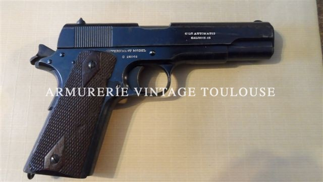 Exceptionnel pistolet Colt 1911 civil fabrication de 1915