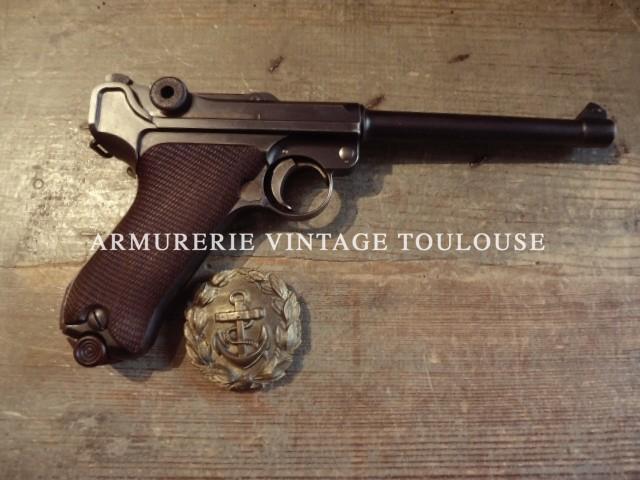 Rare pistolet Parabellum P.08 de marine modèle 1914