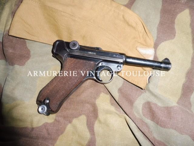 Joli Pistolet P 08 fabrication Mauser (code 42) en 1940