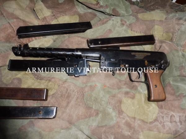 Rarissime Pistolet-Mitrailleur FNAB 43 calibre 9X19.