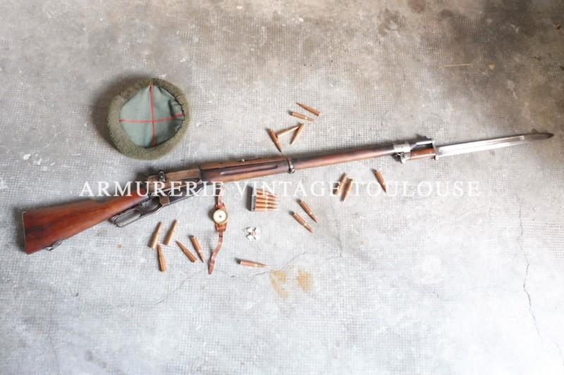 Fusil réglementaire Russe Winchester 1895 calibre 3 lignes (7,62 x 54 R)