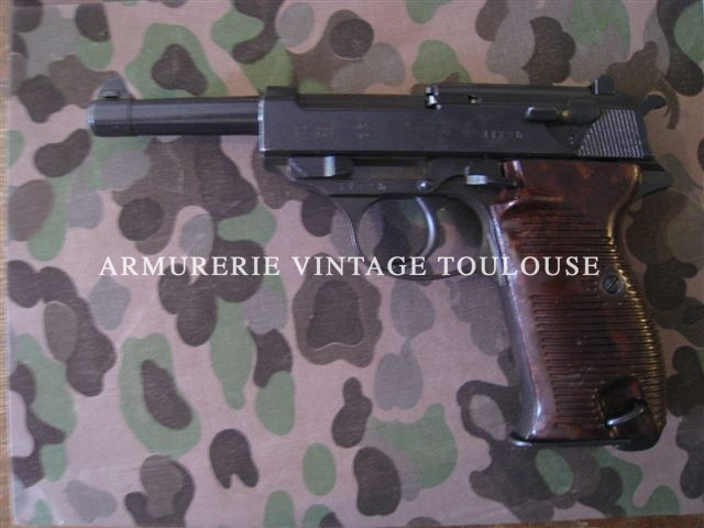 "P38 de surplus fabrication Walther ""ac"" en 1942"