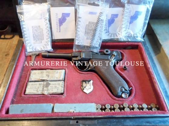 Trousse de ressorts modernes de réparation pour pistolet PARABELLUM contenant un ressort de genouillère et un ressort de chargeur*