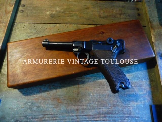 """Rare conversion pour P08 en calibre 22LR fabrication """"ERMA"""" à Erfurt en 1934 (WAa 132) dans sa boite!!"""
