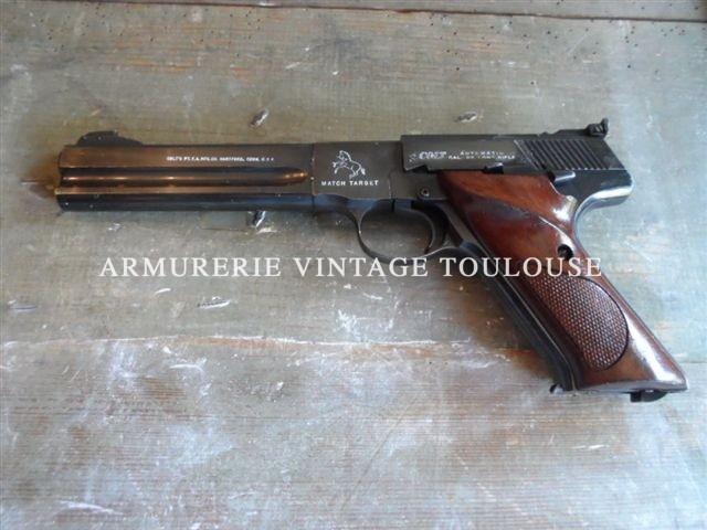 Rare Colt Woodsman troisième série (1955/1977) fabriqué en 1971 calibre 22LR.
