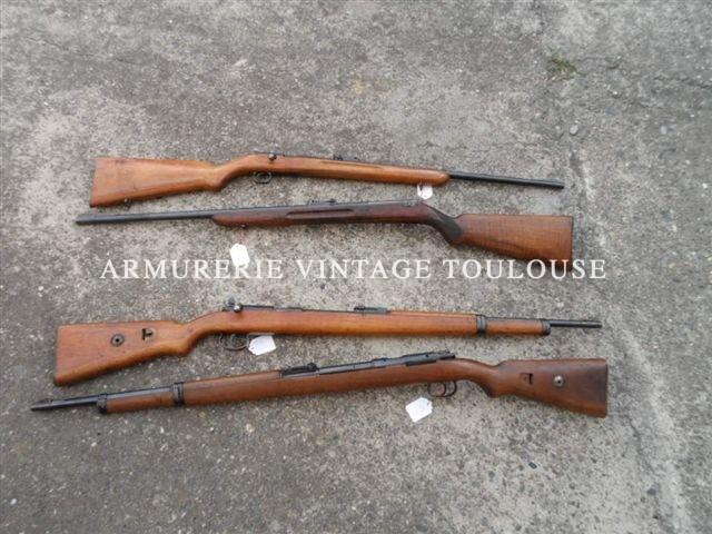 Petit lot de carabines Mauser monocoup calibre 22LR