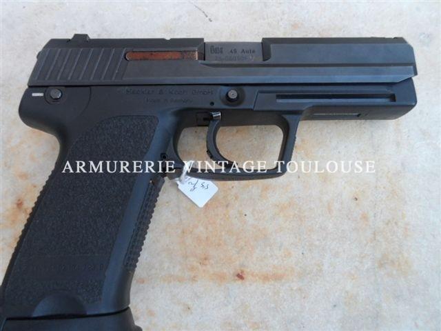 Pistolet calibre 45 ACP de fabrication Allemande par Heckler & Koch