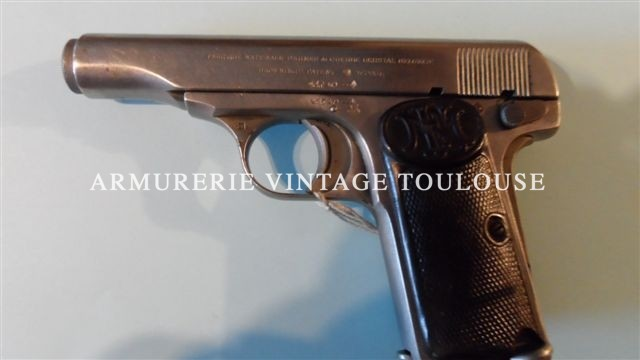 Pistolet Browning 1910 calibre 7,65