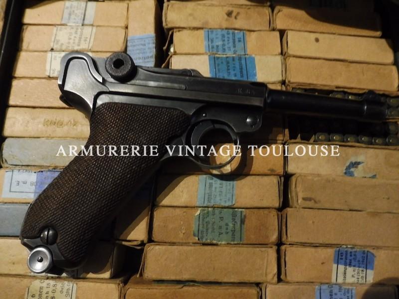 Splendide pistolet P 08 fabrication Mauser (42) en 1940