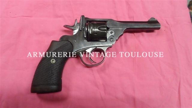 Rare révolver Webley & Scott calibre 38 poudre noire à brisure