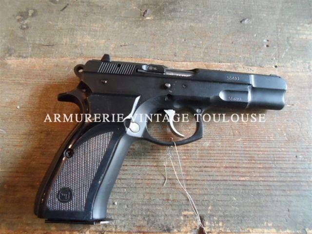 Ensemble divisible pistolet CZ 75 B calibre 9X19 fabrication 1996 et conversion Kadet