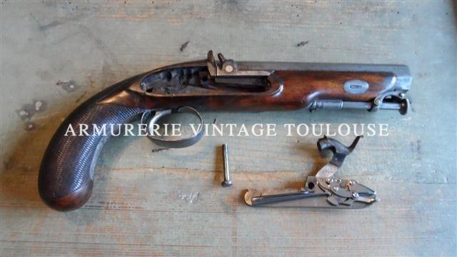 Gros pistolet Anglais de fabrication bourgeoise calibre 16.