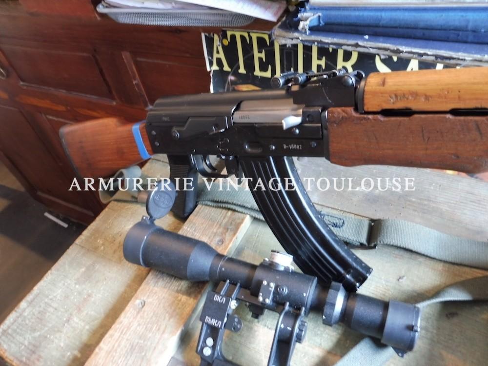Avatar Yougoslave( Zastava M 72) du FM RPK calibre 7,62 X 39 avec son montage et sa lunette P.O.S.P