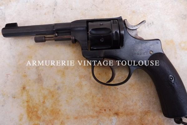 Rare revolver réglementaire Serbe Nagant modèle 1891 calibre 7,5mm Nagant Serbe