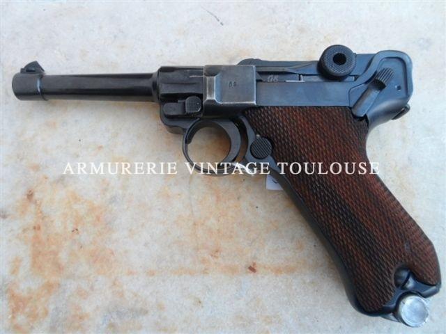 Pistolet Parabellum P08 calibre 9×19 reconditionné