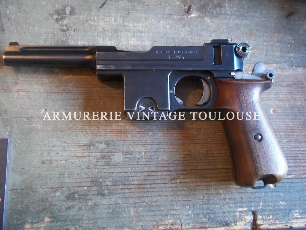 Pistolet calibre 9mm Bergmann-Bayard (9 X 23)