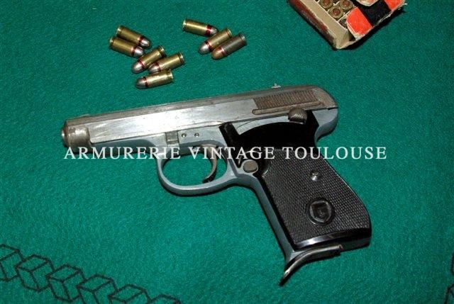 Rarissime pistolet Allemand calibre 7,65 Gustloff werke !!