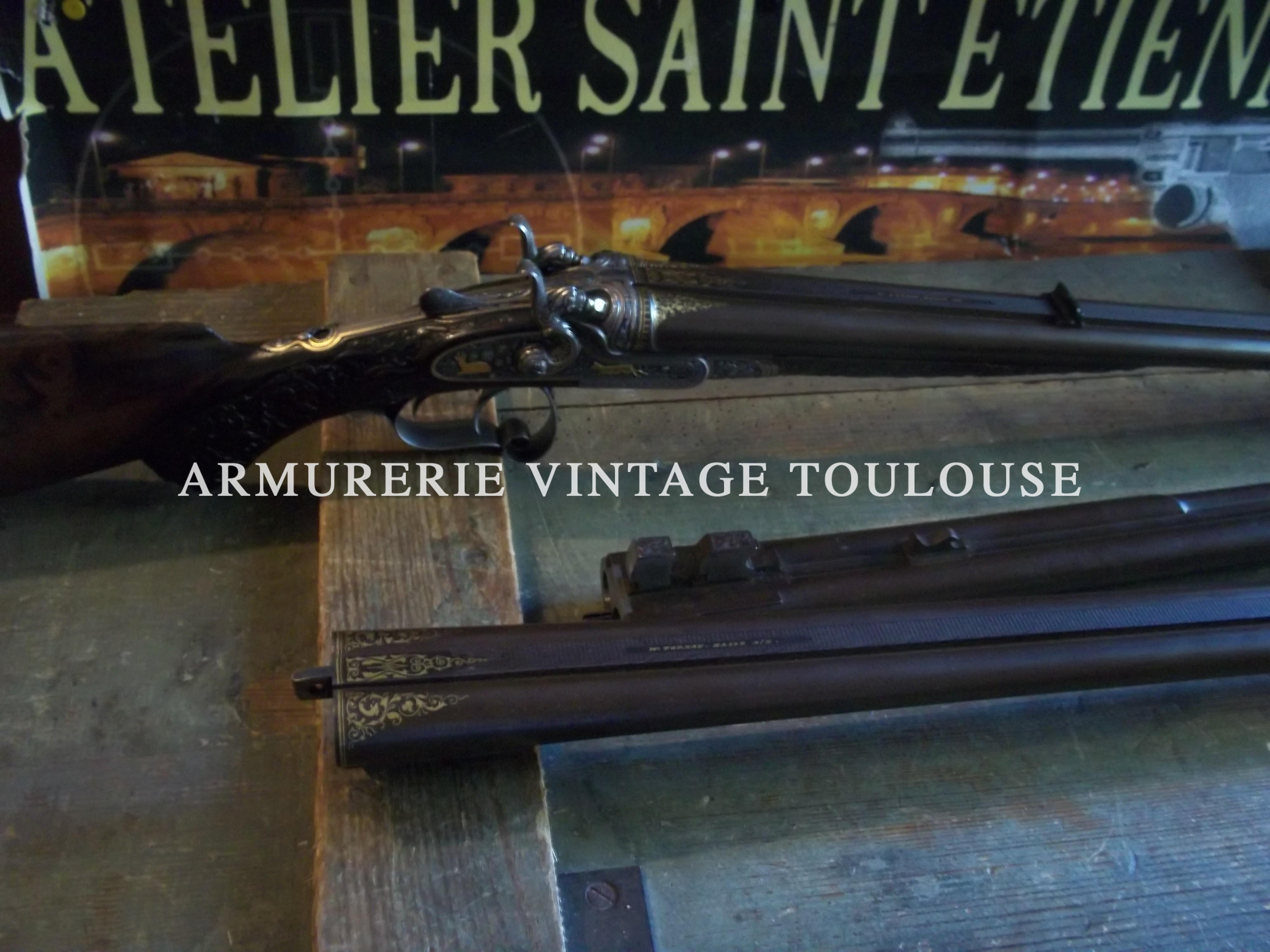 Extraordinaire fusil juxtaposé à chien fabrication Allemande vers 1885
