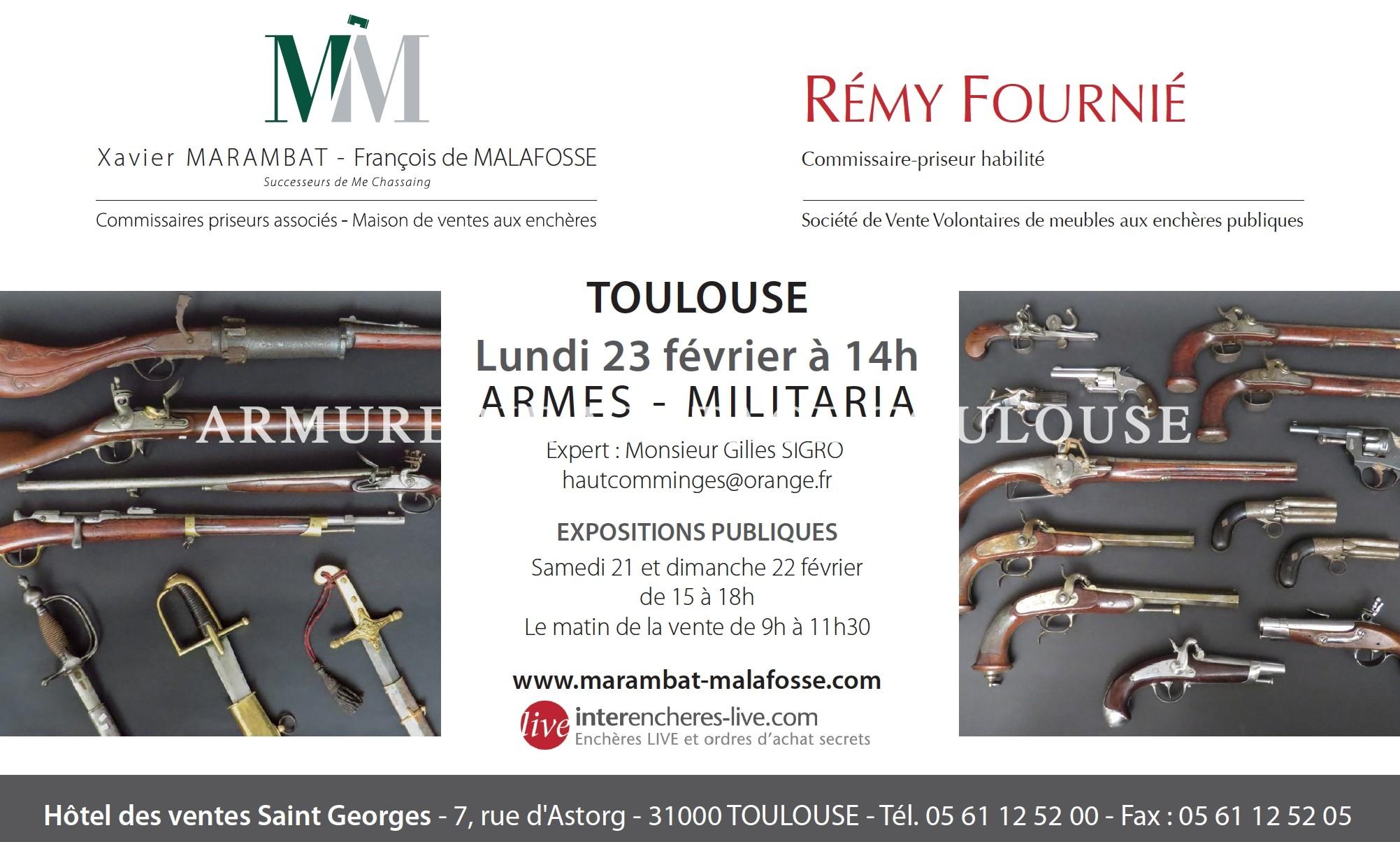 Résultat Vente aux enchères le Lundi 23 février à 14h ARMES – MILITARIA