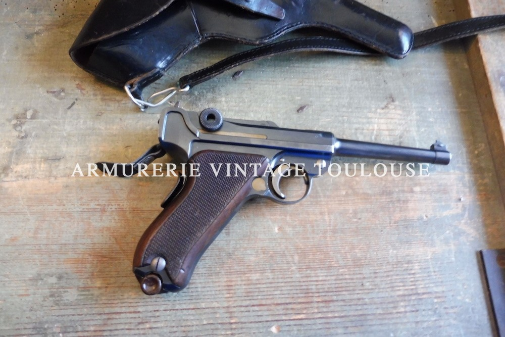 Pistolet Parabellum Suisse modèle 1906 en calibre 7,65