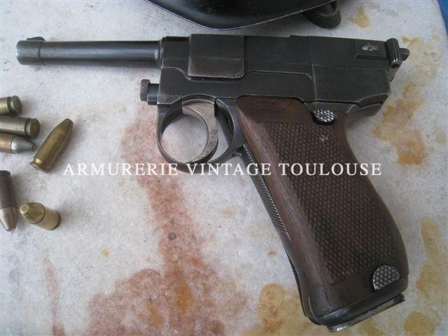 Pistolet Réglementaire Italien Glissenti 1910 calibre 9mm Glissenti.