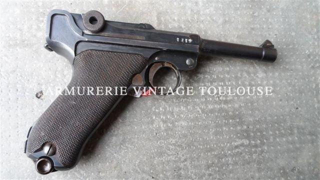 """Pistolet P08 réglementaire Allemand de la premère guerre mondiale, fabrication """"dwm"""" en 1915, calibre 9X19"""