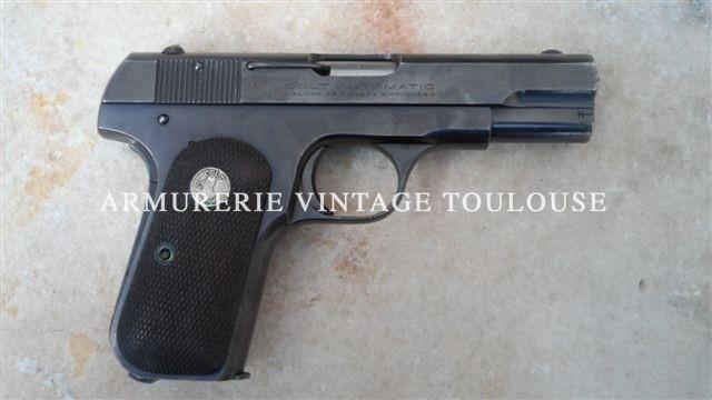 Colt 1903 calibre 32 ACP dans sa 5eme variante (sureté de chargeur)fabrication 1932