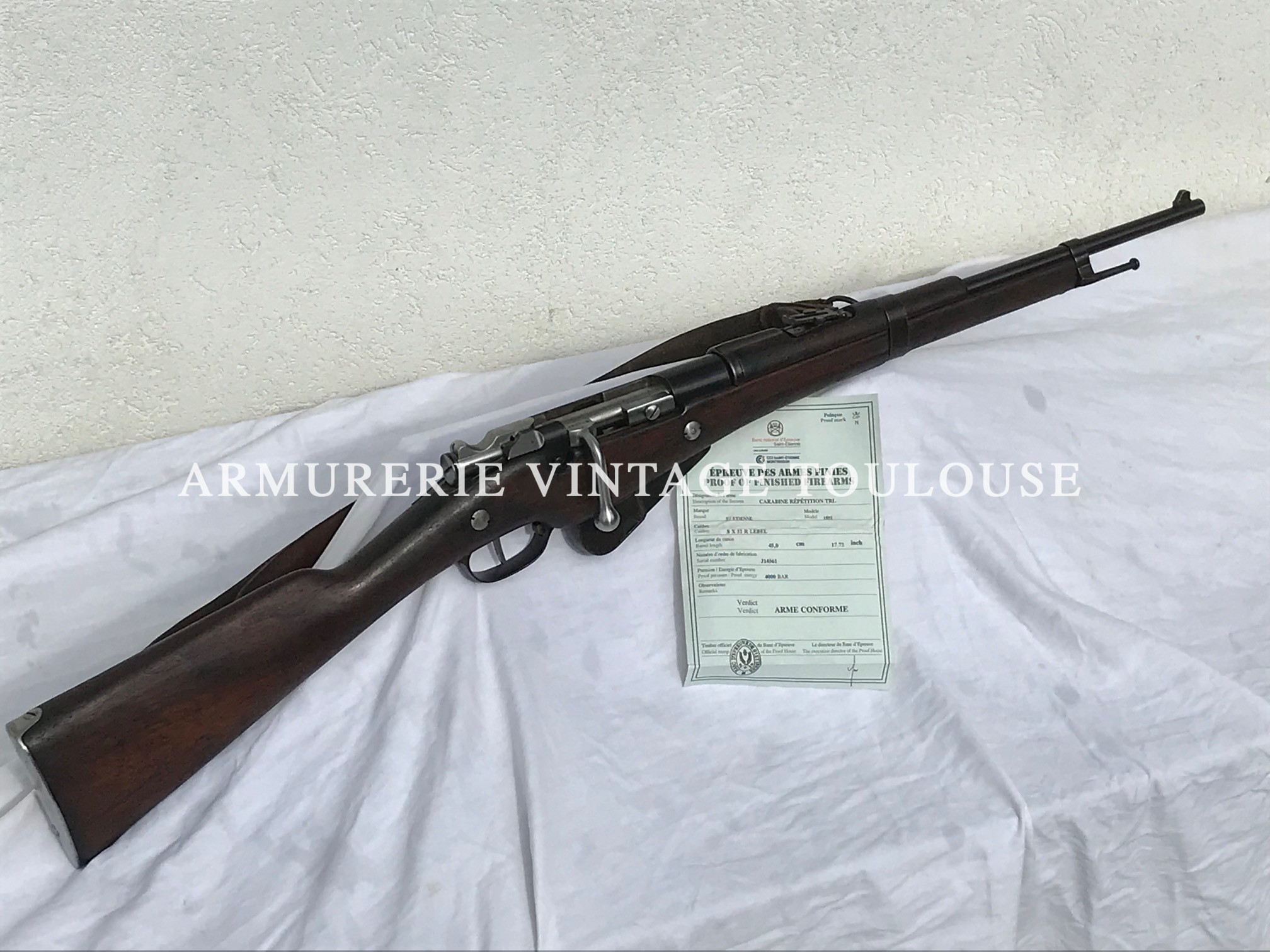 Mousqueton Berthier 1892 version 5 coups calibre 8 mm