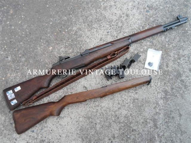 Fusil semi automatique Garand M1 calibre 308w fabrication Beretta