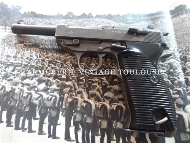 "PIstolet Walther P38 calibre 9X19 fabrication Mauser ""byf"" en 1944 Splendide"