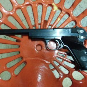 """Intéressant pistolet de tir M.A.B. modèle """"F"""" calibre 22 L.R."""