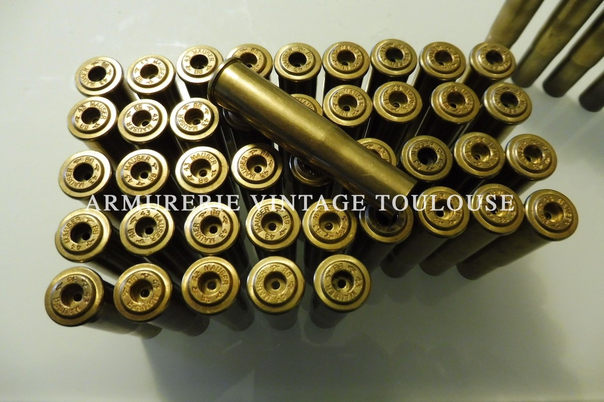 Petit lot d'étuis laiton calibre 11,15 X 60 R Mauser