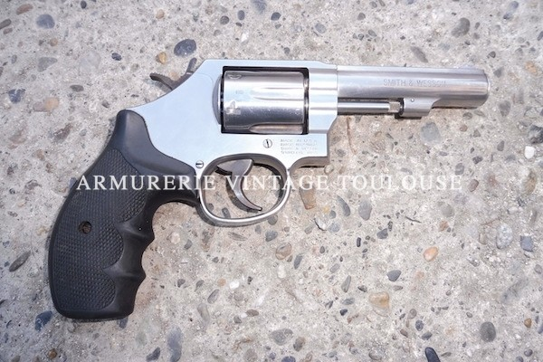 Revolver Smith & Wesson calibre 38 canon lourd
