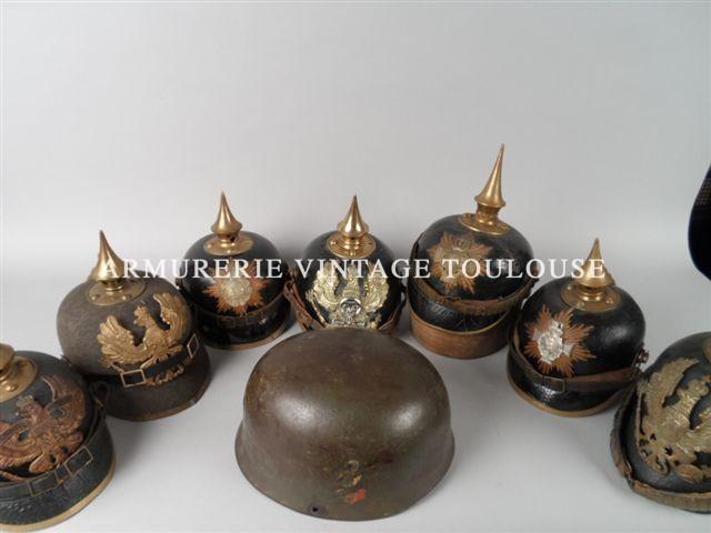 Grande vente de militaria Français et Allemand 14/18 (coiffures, cuivrerie, baionnettes) chez Primardeco