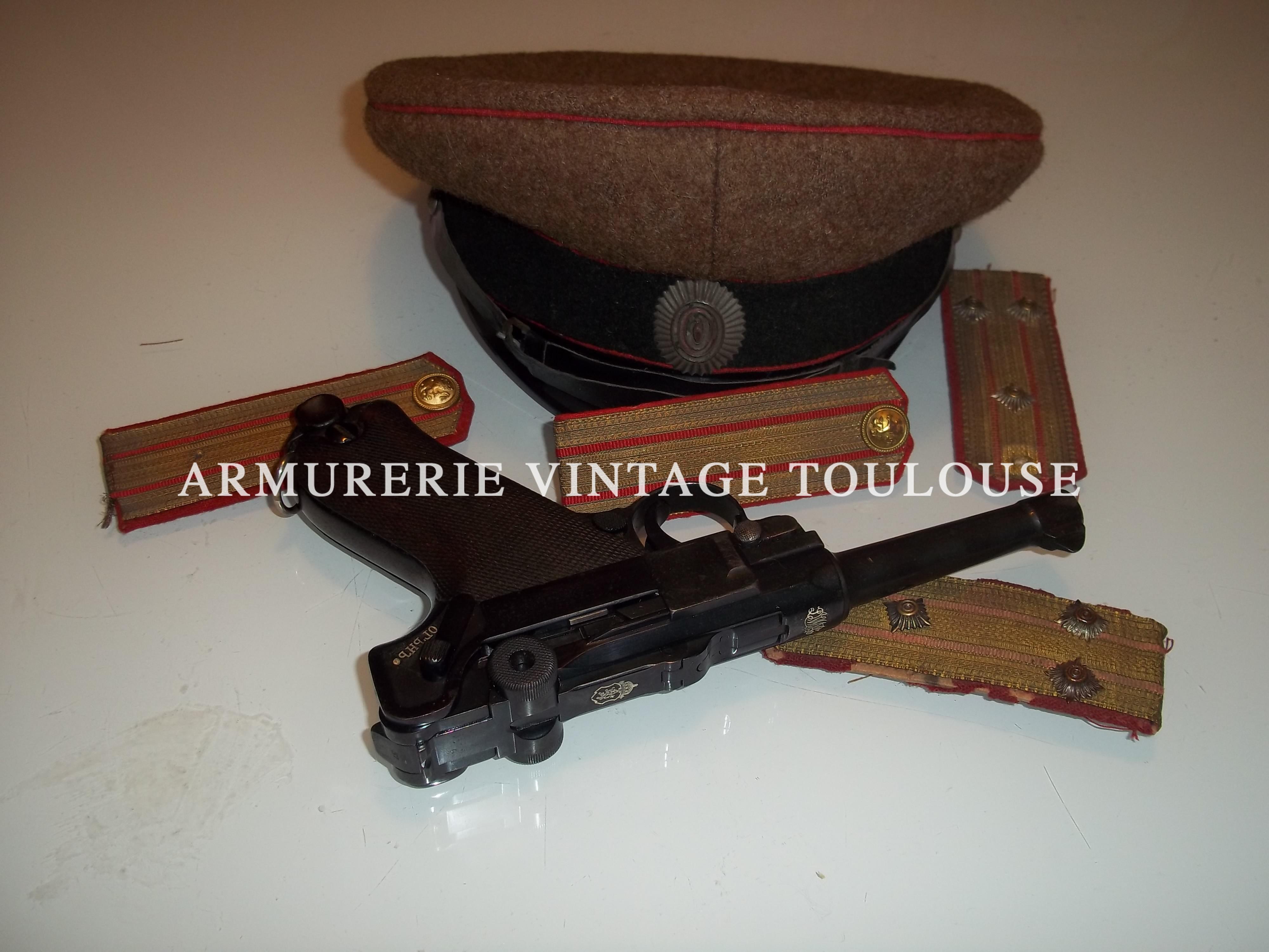 Rarissime pistolet P08 contrat Bulgare de 1911.