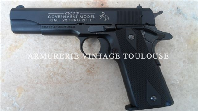 Pistolet Colt 1911 calibre 22LR fabrication sous licence Carl Walther
