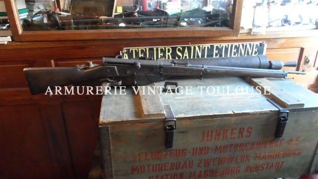 fusil semi automatique Français (FSA) modèle 1917 calibre 8X50R Lebel Fabriqué entre 1917 et 1918