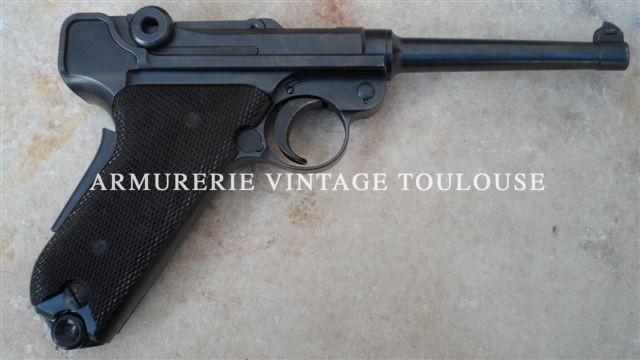 """Rare P 08 Suisse réglementaire fabrication """"Bern"""" modèle 1929"""