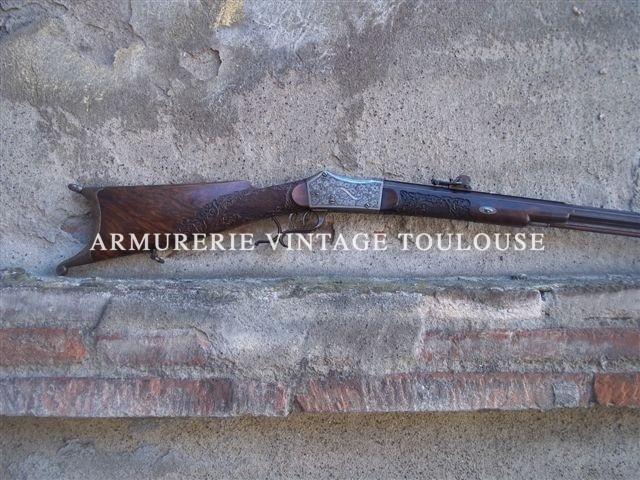 carabine de tir suisse par Poncet & fils à Genéves