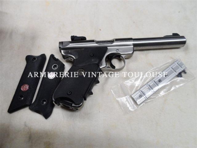 Pistolet Ruger bull barrel inox MK III calibre 22LR